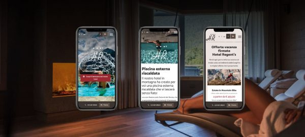 Sito web hotel regent's Mobile First